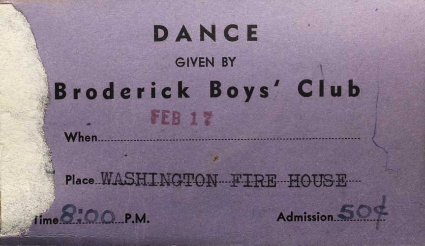 BBoy's dance ticketstub